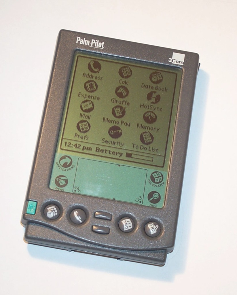 The Palm Pilot personal organizer (PDA).