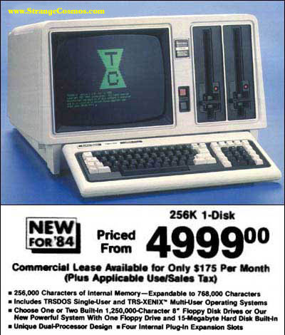 The 1984 desktop computer, from Radio Shack.