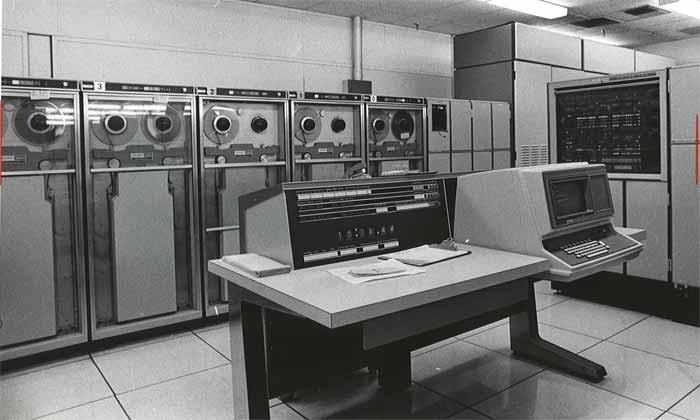 UNIVAC 1 computer. Insurance companies and the US military were some of the users.